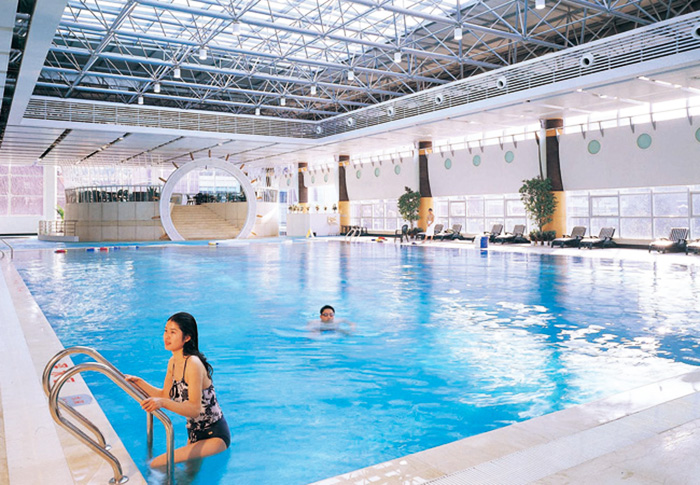四川德阳游泳馆游泳池循环水设备案例