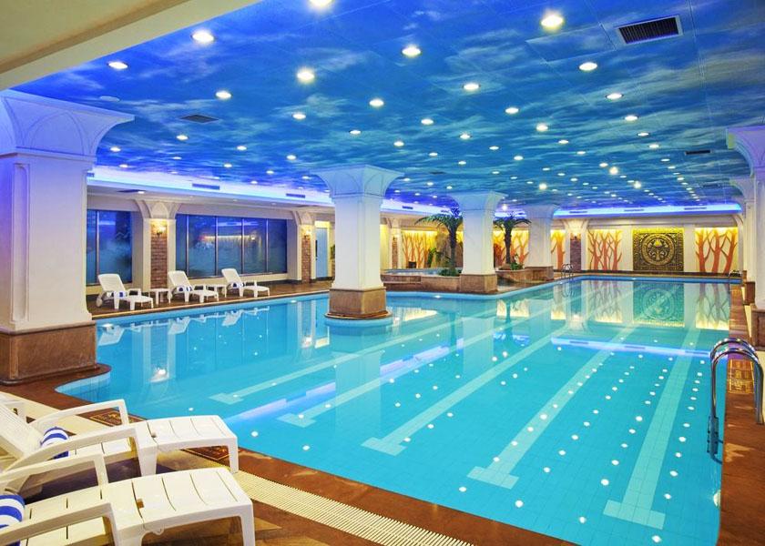 新疆库尔勒高档酒店游泳池水处理项目案例