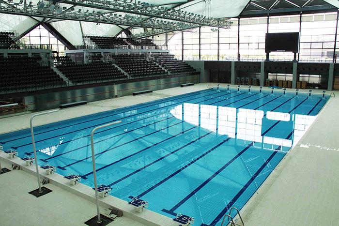 河南邓州水立方游泳馆泳池恒温除湿系统案例